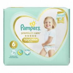 Scutece Pampers Premium Care Pants 6 Value Pack, 15+ kg, 31 buc.