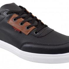 Pantofi Barbati Casual Negri - Distrikt, 40 - 44
