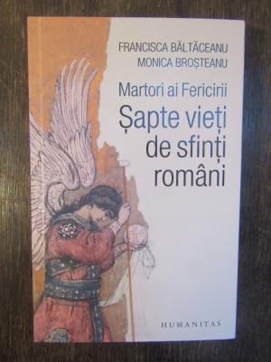 Martori ai Fericirii. Sapte vieti de sfinti romani - Baltaceanu Francisca foto