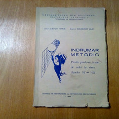 INDRUMATOR METODIC pentru Predarea Jocului de VOLEI - Surugiu V.- 1970, 84 p.