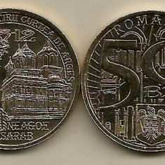 2 buc. MONEDA 50 BANI ROMANIA 2012 , NEAGOE BASARAB