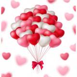 Set 10 latex baloane in forma de inima 26 cm, Oem