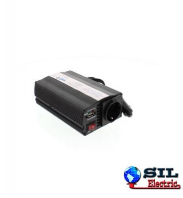 Invertor de tensiune cu usb, 24V -> 220V, 600W, Well foto