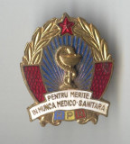 Insigna Pentru Merite in munca Medico-Sanitara - RPR 1950