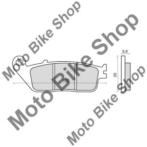 MBS Placute frana sinter Kymco XCITING 500 spate, Cod Produs: 225103143RM