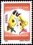 ROMANIA 2004 ZIUA INDRAGOSTITILOR -Valentine's Day  Serie 21val.  MNH** LP 1628