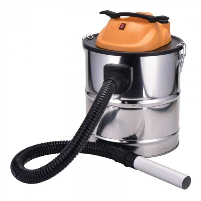 Aspirator Sapir, carcasa otel inoxidabil, filtru HEPA lavabil, 18 l
