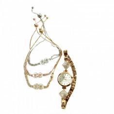 Set de bijuterii cadou format din 3 bratari cu semnul INFINIT ceas si cutie cadou