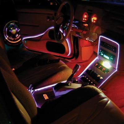 Fir cu lumina ambientala pentru auto, neon ambiental flexibil 3,2 mm foto