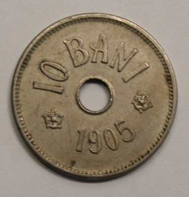 10 BANI 1905 . foto