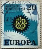 Germania Roti dintate, Posta, Stampilat