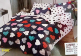 Lenjerie de pat pentru  2 persoane , , Sirona'', 6 PIESE , finet gros 100%, 240x250 cm, Set complet, Ralex