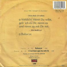 "France Gall - Babacar (1987, WEA) Disc vinil single 7"""