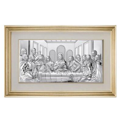Icoana din Argint 50×24.5 cm Cina Cea De Taina COD: 3462 foto