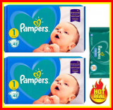 Cumpara ieftin Pampers Scutece Nr 1 Active Baby Giant Pack, 2-5 kg, 86 Buc+ Servete PAMPERS