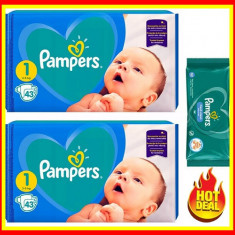 Pampers Scutece Nr 1 Active Baby Giant Pack, 2-5 kg, 86 Buc+ Servete PAMPERS