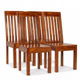 vidaXL Scaune de masă 4 buc. lemn masiv, finisaj palisandru, moderne