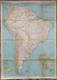 America de Sud// harta The National Geographic Magazine, 1937