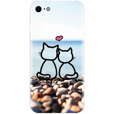 Husa silicon pentru Apple Iphone 6 Plus, In Love Cats foto