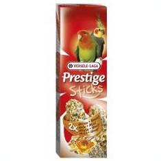 Bastonașe pentru papagalii nimfă PRESTIGE STICKS 2 bucăți- nuci și miere, 140g