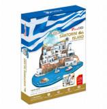 Cumpara ieftin Puzzle 3D - Insula Santorini, 129 piese, CubicFun