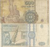 Romania (31) - 500 Lei 1991 Aprilie, 500 Lei 1992 filigran profil