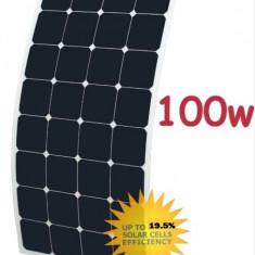 Panou/ri solar/e fotovoltaic/e FLEXIBIL 100W rulote, camping, barci, camping