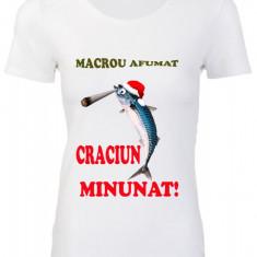 "TRICOU DAMA HAIOS CRACIUN ""MACROU AFUMAT"""