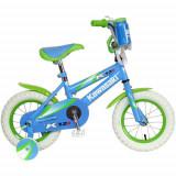 """Bicicleta 12"""" Kawasaki cu roti ajutatoare SSO1202"""