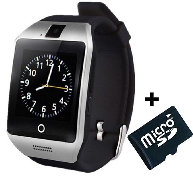 Smartwatch cu telefon iUni Apro U16, Camera, BT, 1.5 inch, Argintiu + Card MicroSD 4GB Cadou