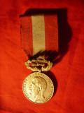 Medalie Rasplata Muncii pt Constructiuni Scolare 1923 cl.II Regele Ferdinand
