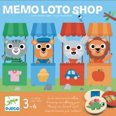 Joc de memorie si asociere Memo Loto Shop Djeco