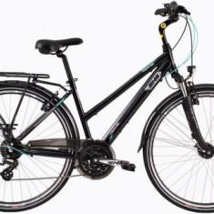 Bicicleta Dama DHS Travel 2858, 490mm (Negru)