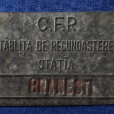 Placheta CFR - Tablita de recunoastere