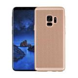 Cumpara ieftin Husa Samsung Galaxy S9 2018 Carcasa Spate Perforata Auriu Gold, Oem