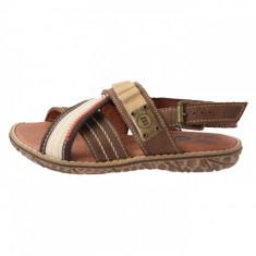 Sandale copii, din piele naturala, Melania, ME4084-2, maro