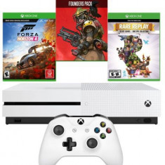 Consola Xbox One S 1TB + Forza Horizon 4 + Apex Legends Founders Pack + Rare Replay (Alb)