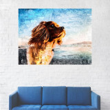 Tabou Canvas, Pictura Caine Golden - 20 x 25 cm