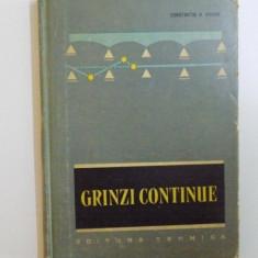 GRINZI CONTINUE TABELE DE CALCUL, EDITITA A II-A de CONSTANTIN N. AVRAM, 1965
