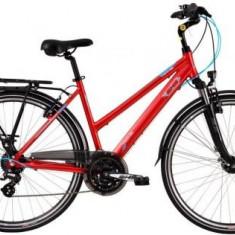 Bicicleta Dama DHS Travel 2858, 490mm (Visiniu)