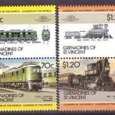 Grenadines of St Vincent 1985 - locomotive, serie neuzata