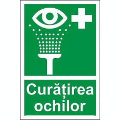 Indicator Curatirea ochilor - Semn Protectia Muncii