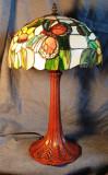 Lampa cu vitralii stil Art Nouveau