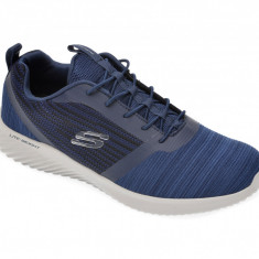 Pantofi sport SKECHERS bleumarin, Bounder, din material textil
