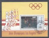 Haute Volta 1984 Sport, Olympics, perf.sheet, used AG.035, Stampilat
