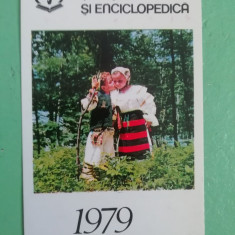 CCO 1979 - CALENDAR DE COLECTIE - TEMATICA TURISM - ANUL 1979