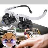 Lupa ochelari lupa dubla bijutier ceasornicar reparatii lupe 23x lupa led-uri