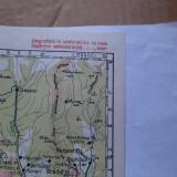 Harta veche Râmnicu Vâlcea si împrejurimi (1929)
