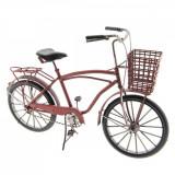 Macheta Bicicleta Retro din metal rosu 32 cm x 12 cm x 20 h, Clayre & Eef