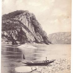 2746 - ORSOVA, Danube Kazan, boat, Romania - old postcard, CENSOR - used - 1910